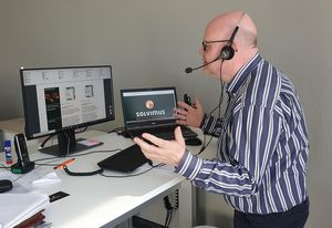 Dirk Bechmann im virtuellen Außendienst