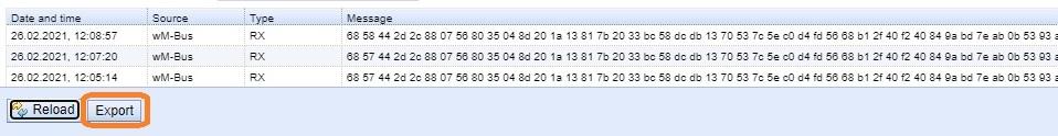 CSV-Datei über Export generieren